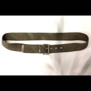 Army/olive green & gold belt